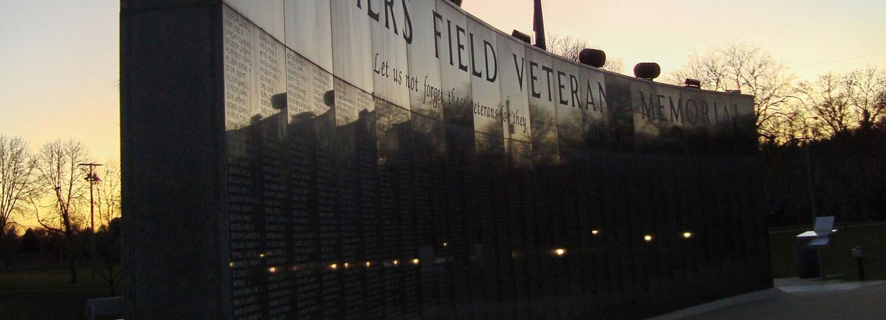 history of the veterans memorial wall